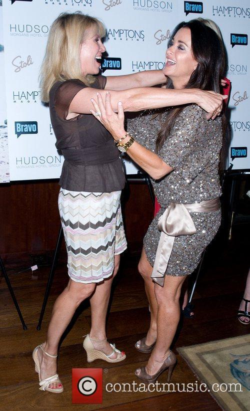 Ramona Singer and Kyle Richards Hamptons Magazine's celebration...