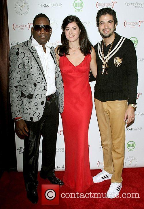 Celebrities attend the 'Hands for Haiti' benefit in...