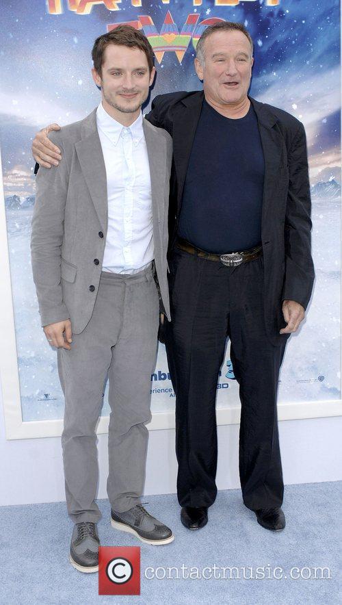 Elijah Wood, Robin Williams,  at Warner Bros....