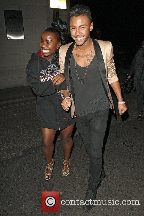 X Factor finalists enjoy a night out at...