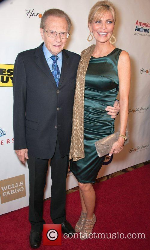 Larry King and his wife Shawn Southwick King...