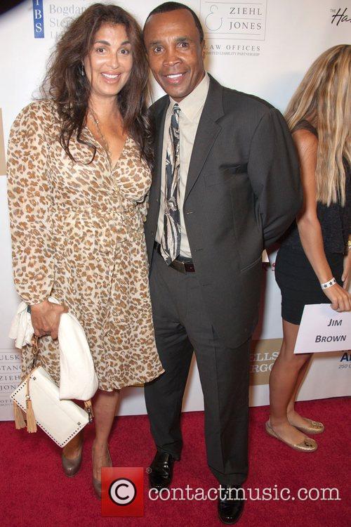 Sugar Ray Leonard and wife Juanita...