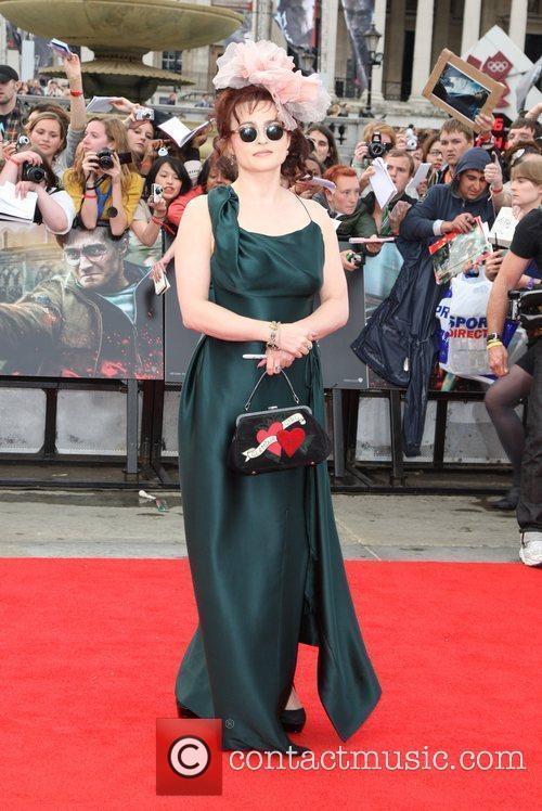 Helena Bonham Carter, Daniel Radcliffe and Emma Watson 2