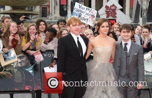 Rupert Grint, Daniel Radcliffe and Emma Watson 5