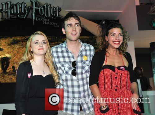 Evanna Lynch, Matthew Lewis and Natalia Tena 7