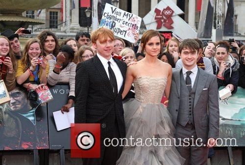Rupert Grint, Daniel Radcliffe and Emma Watson 9