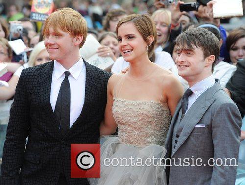 Rupert Grint, Daniel Radcliffe and Emma Watson 11