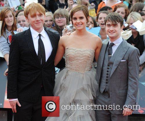 Rupert Grint, Daniel Radcliffe and Emma Watson 6