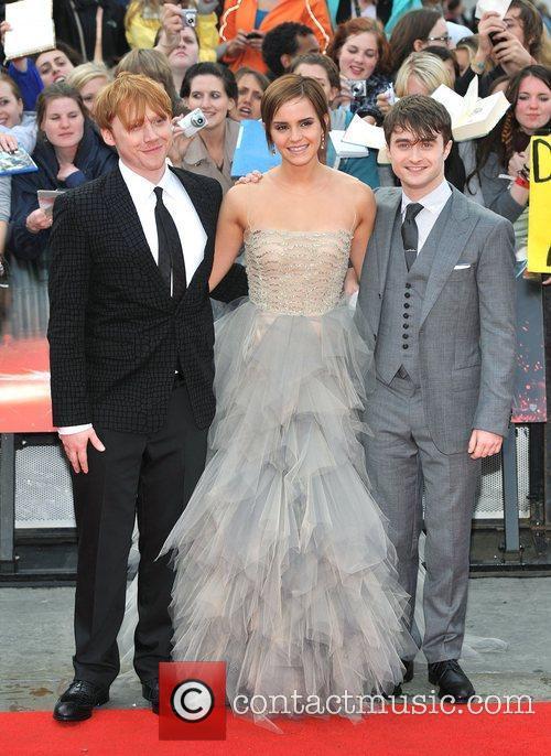 Emma Watson, Daniel Radcliffe and Rupert Grint 8