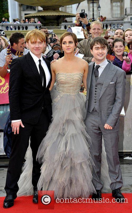 Rupert Grint, Daniel Radcliffe and Emma Watson 1
