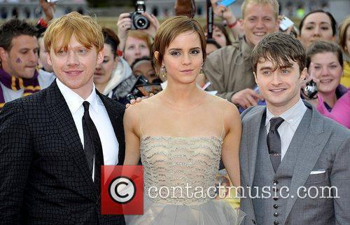 Rupert Grint, Daniel Radcliffe and Emma Watson 2