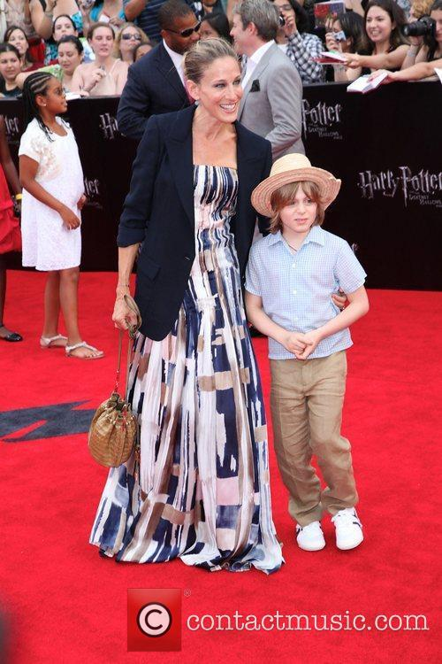 Sarah Jessica Parker with her son James Broderick...
