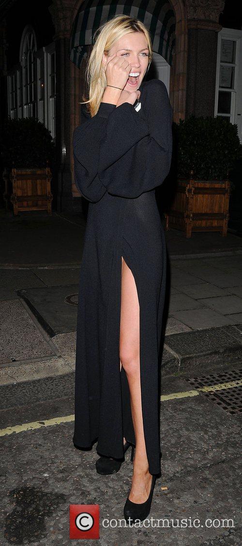 Abbey Clancy leaves Harry's Bar london, England