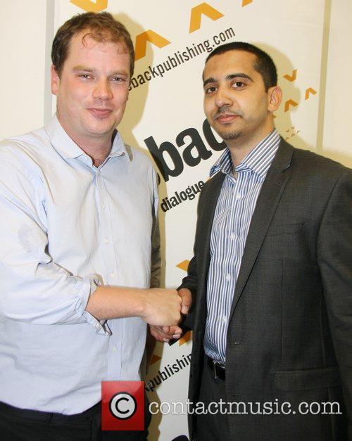 Mehdi Hasan and James Macintyre attend a book...