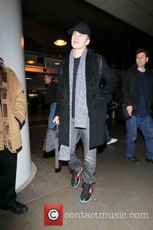 Hayden Christensen arrives at LAX on a flight...