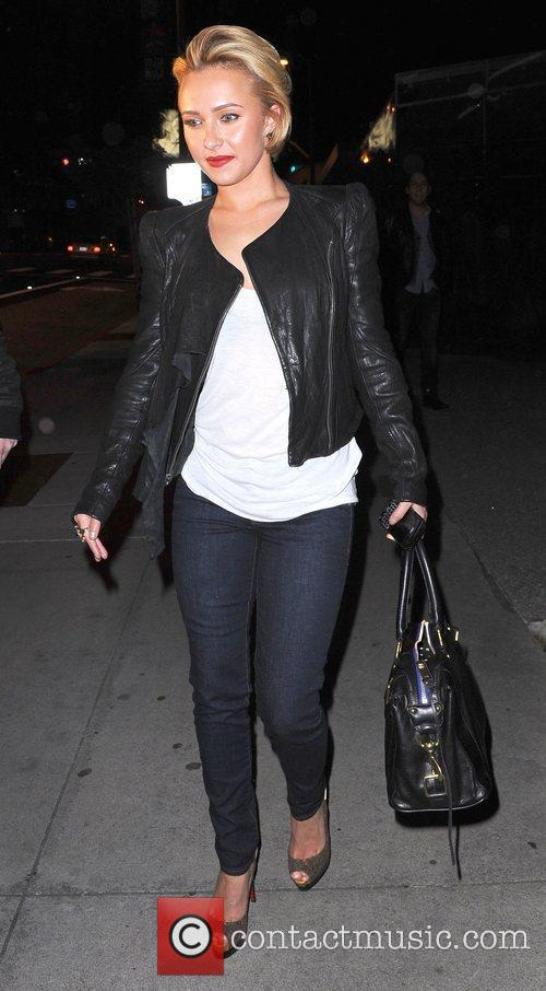 Hayden Panettiere leaves BOA Steakhouse in West Hollywood...