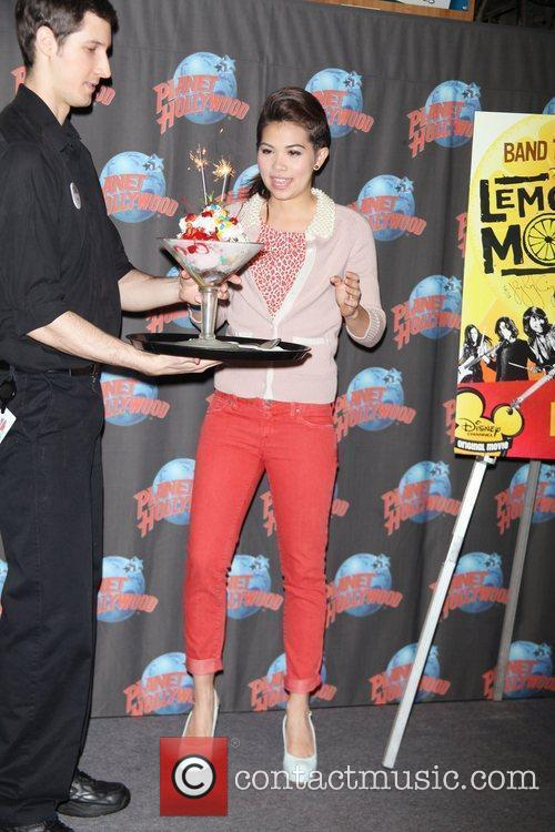 Hayley Kiyoko visits Planet Hollywood Times Square to...