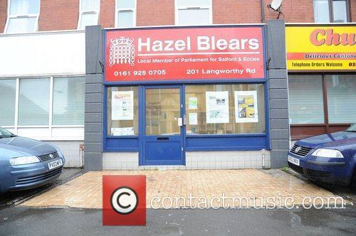 Hazel Blears Office in Salford shows signs of...