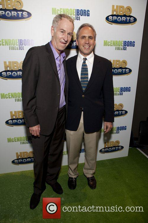 John McEnroe and Ross Greenberg (President of HBO...