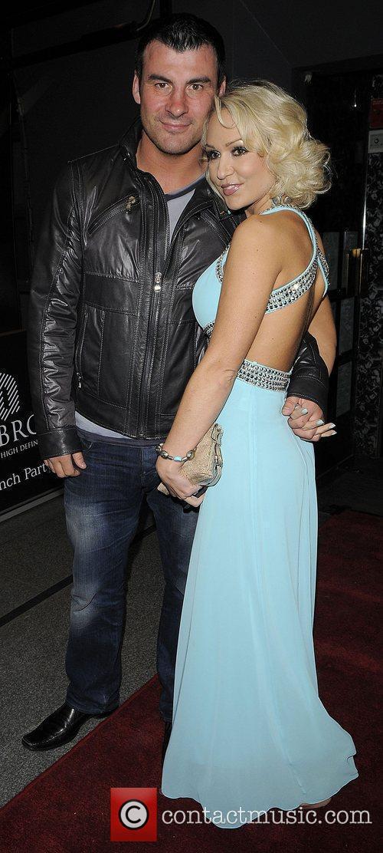 Joe Calzaghe and girlfriend Kristina Rihanoff arriving at...