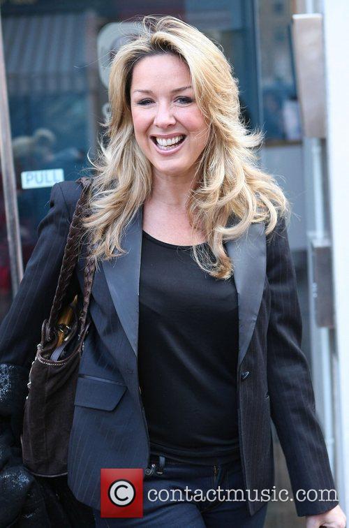 Claire Sweeney Celebrities outside the Heart Radio studios...