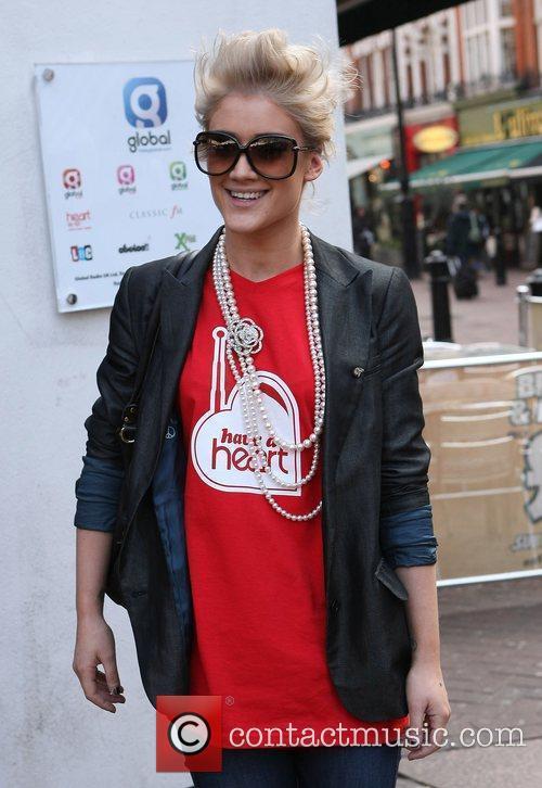 Katie Waissel Celebrities outside the Heart Radio studios...