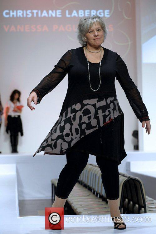 Christiane Laberge  'The Heart Truth' fashion show...