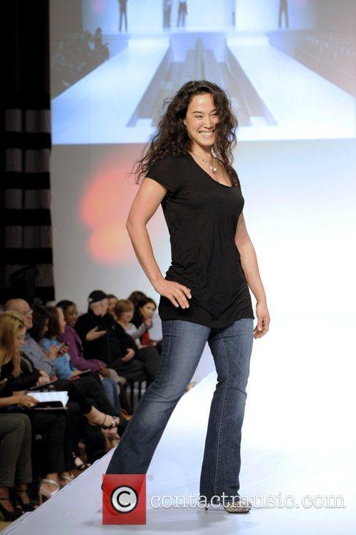 Mylene Dinh-Robic  'The Heart Truth' fashion show...