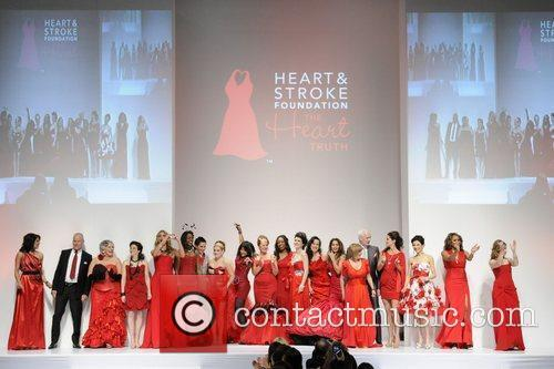 Group picture 'The Heart Truth' fashion show held...