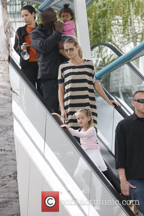 Heidi Klum and Seal take their daughter Leni...