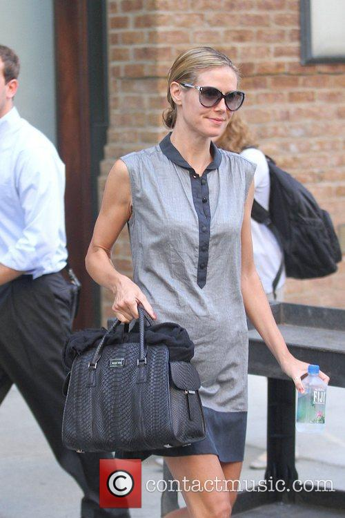 Heidi Klum is seen exiting her hotel in...