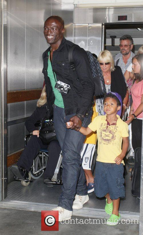 Seal and his son Johan arrive at LAX...