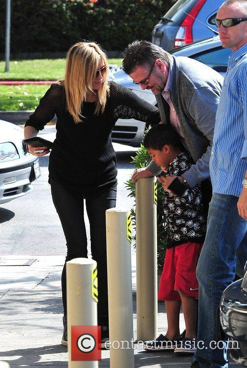 Heidi Klum and son Henry Samuel  out...