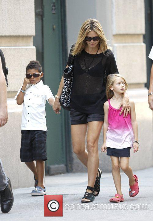 Heidi Klum with her daughter Leni and son...