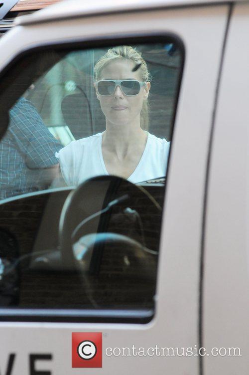 Heidi Klum  returns to her hotel after...
