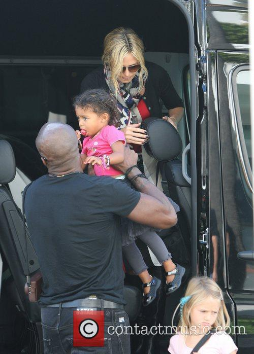 Heidi Klum and Seal go for lunch with...
