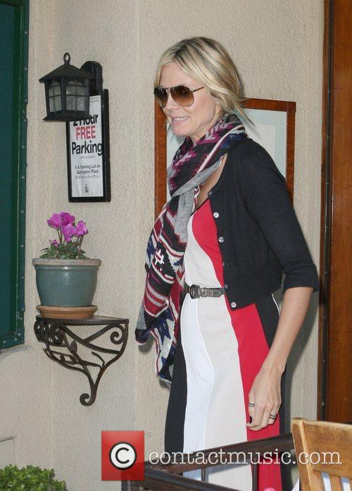 Heidi Klum goes for lunch with her family...