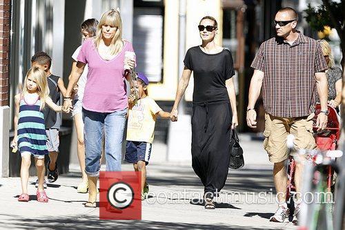 Leni Samuel, Johan Samuel and Heidi Klum Heidi...