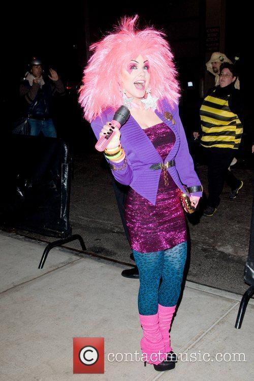 Carrie Keagan  Heidi Klum's Halloween Party held...