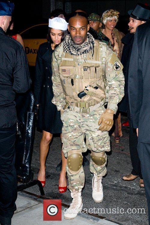 Tyson Beckford Heidi Klum's Halloween Party held at...