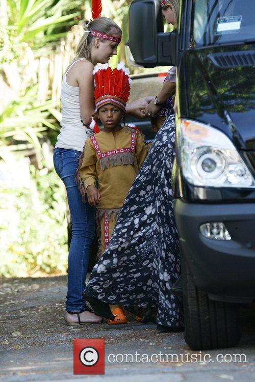 Heidi Klum's children arrive at a party dressed...