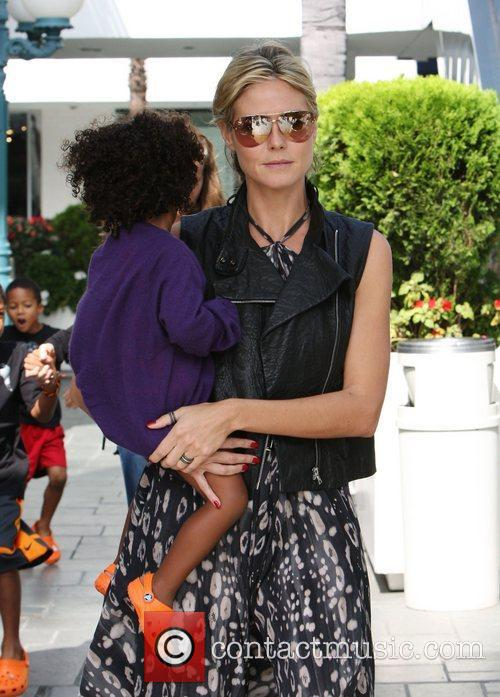 Heidi Klum and daughter Lou Samuel out and...