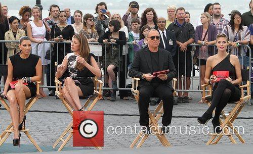 Kim Kardashian, Heidi Klum, Michael Kors and Nina Garcia 3
