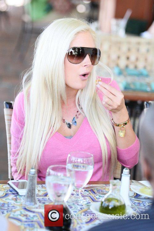 Heidi Montag filming a segment for her new...