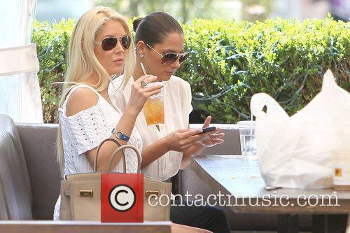 Heidi Montag drinking iced tea at Caffe Primo...
