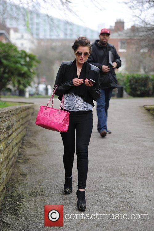 Helen Flanagan out and about in Manchester Manchester,...
