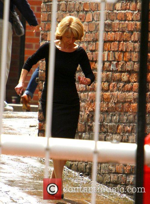 Helen Worth on the set of 'Coronation Street'...
