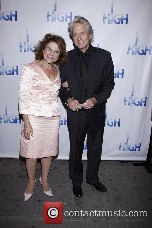 Tovah Feldshuh poses with Michael Douglas Opening night...