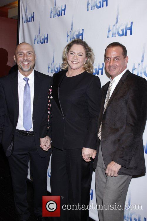 Rob Ruggiero, Kathleen Turner and Matthew Lombardo Opening...