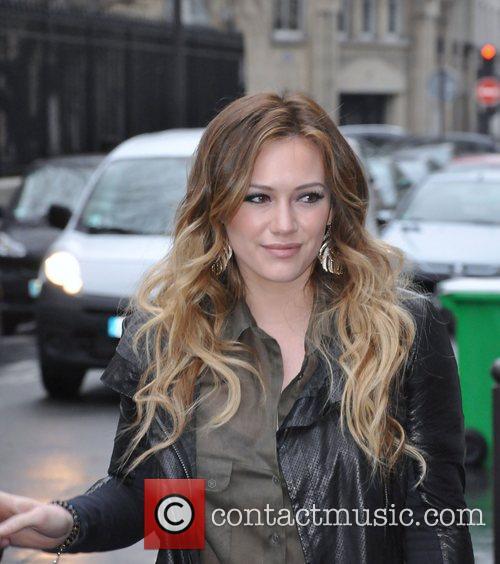 Hilary Duff arriving at NRJ radio Paris, France